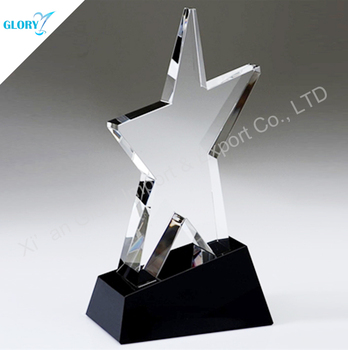 2016 Mini Star Crystal Trophy With Black Base
