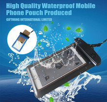 Custom plastic mobile phone bag PVC waterproof case