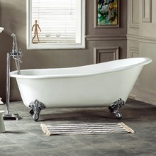 cheap portable freestanding high quality cast iron enameled soaking bathtubs with leg for adult