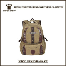 Large Canvas Casual Backpack for Camping and Hiking