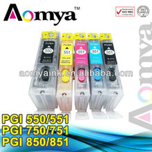 Aomya PGI550 CLI551 Refill ink cartridge for Canon PIXMA iP7250 ink cartridges wholesale made in china