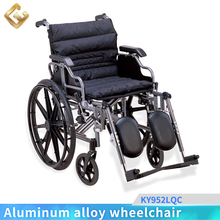 2017 Comfortable cushion PU armrest elevating legrest wheelchair with quick release rear wheel
