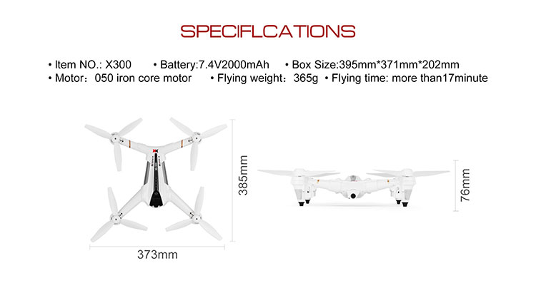 Wltoys XK X300 GPS brushless motor rc drone quadcopter with 1080P camera