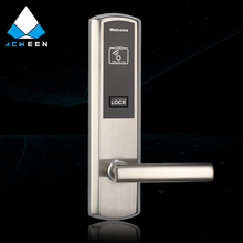 pure stainless steel hotel lock with RF smart card H-621
