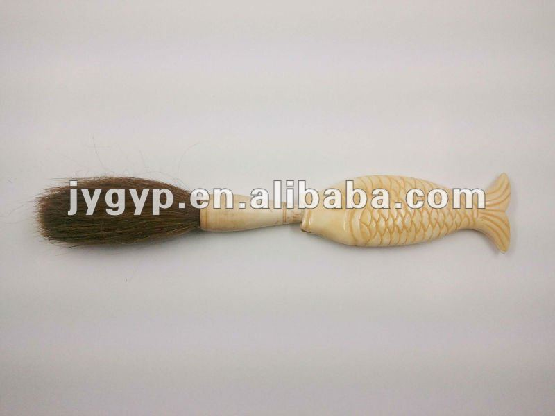 bone carving writing brush with fish shape