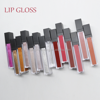 Cosmetics Vendors Wholesale Private Label Lipgloss Glitter Lip Gloss matte lipstick
