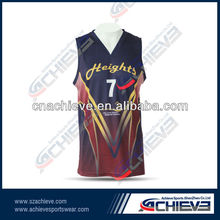 Red and deep blue vivid basketball tops/ shorts