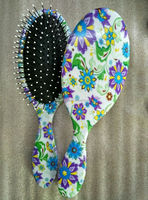 Violet water transfer printing hairbrush