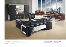 leather executive table office desk F-88