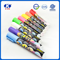Factory supplies refillable custom color glitter whiteboard marker for school or office
