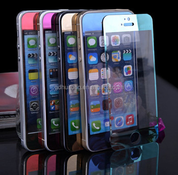 colorful tempered glass screen protector for iphone6/6plus