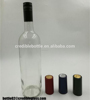 750ml clear wine glass bottles with screw aluminium cap and shrink