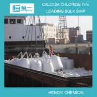 Ice melting agent grade calcium chloride pellet 74% PE bag or PP and PE double bag