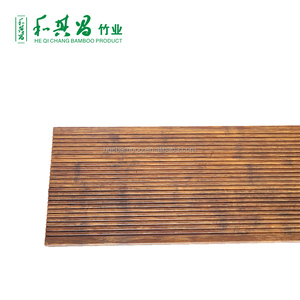 Popular and cheap carbonized click strand woven bamboo flooring