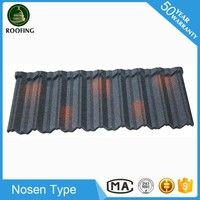 Hot selling Nosen color stone coated steel roof tile,roofing shingles prices for wholesales