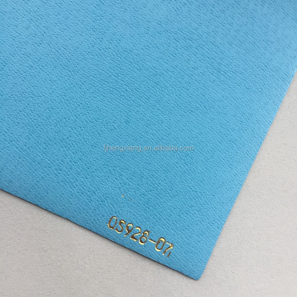 0.7mm color change PU leather thermal hot stamping notebook cover material