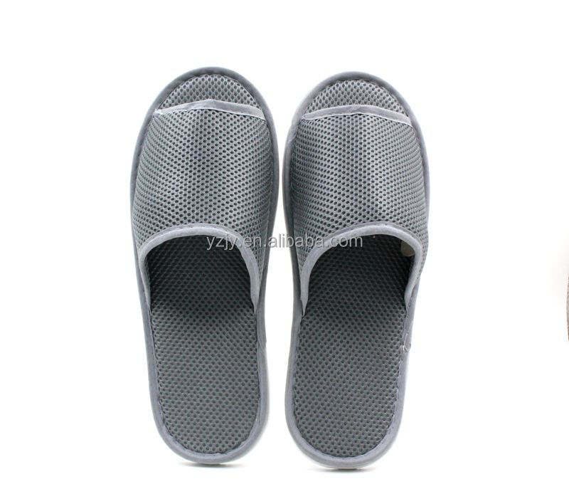 Super anti-skid and breathable disposable reticular bathroom slipper for home/spa/hotel