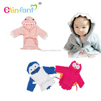 Elinfant Soft Cozy Lamb Wool baby hooded towels cartoon Animal baby towels
