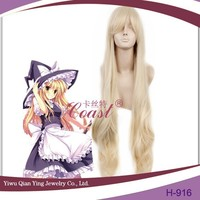 Blonde curly Touhou Project Kirisame Marisa Cosplay female Wig