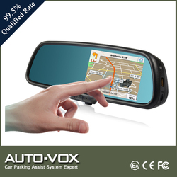 GPS 5 Inch Car Rear View Mirror With Bluetooth Built-in DVR