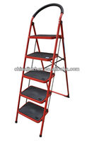 evacuation 3 step ladder steel material, steps folding ladders