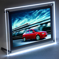 Crystal acrylic picture frame led light box