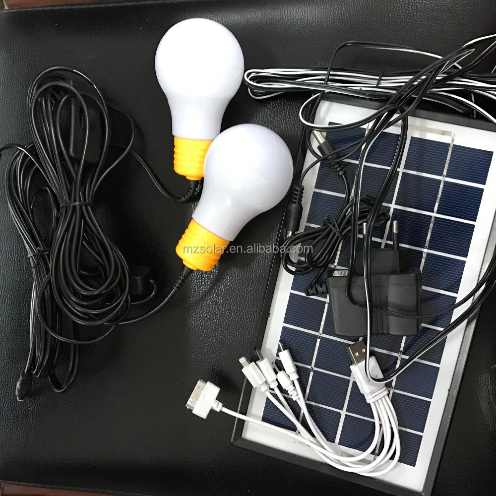 solar power system for home 3W protable mini solar lighting kit