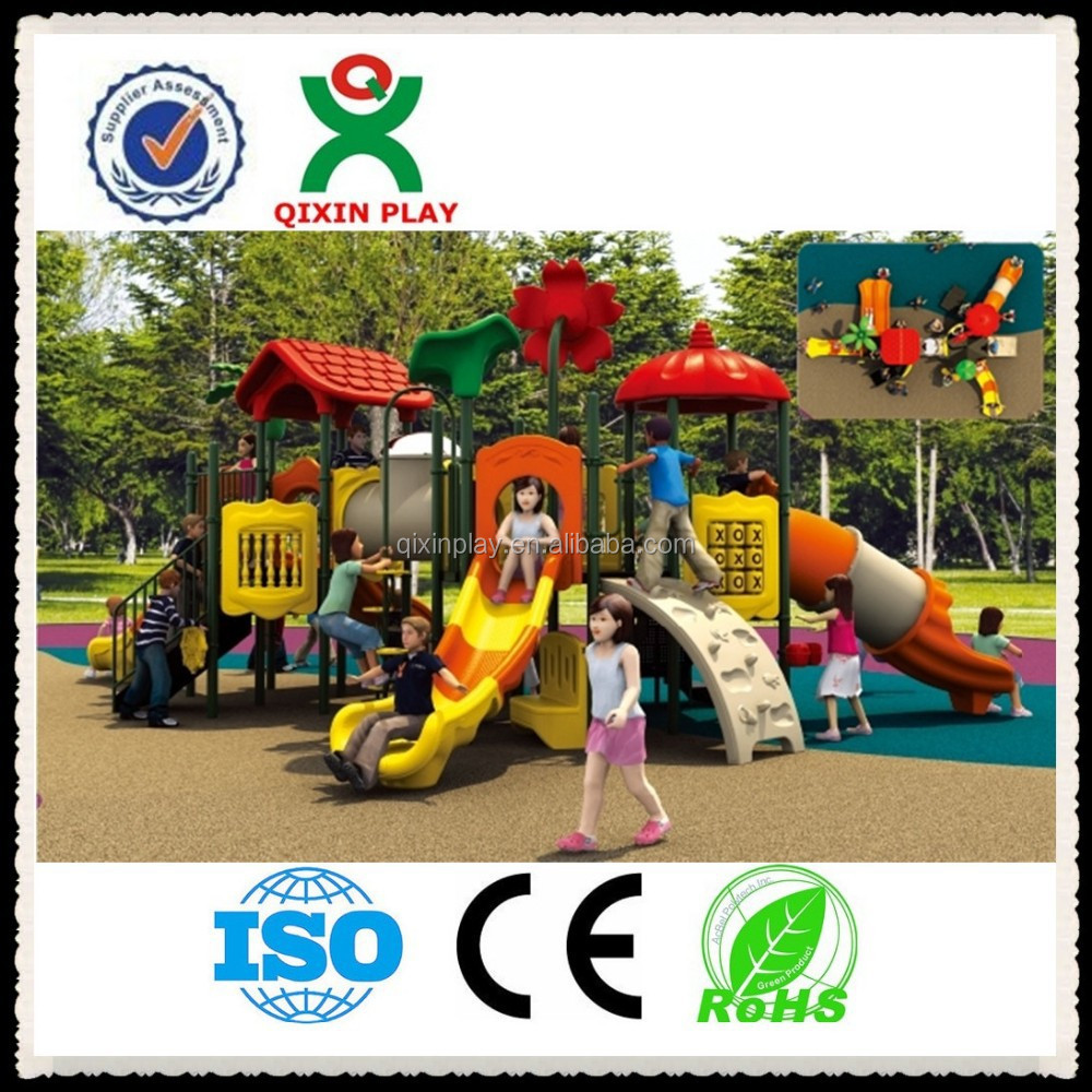 2015 QIXIN fun math outdoor playground slide;outdoor playground equipment for kids (QX - 010C)