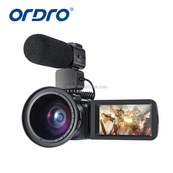 Factory supply HDV-Z20 Wifi &hot shoe FHD Digital video camcorder 16x digital zoom 8 MPCMOS sensor video camera