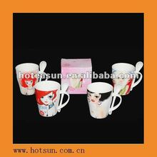 2012 Newest Design Magnesium Promotional Porcelain Gift Cup 6H7502
