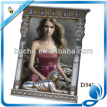 antique style metal picture frame