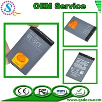Protable 3.7V 1050mAh Rechargeable Li-ion Battery for Nokia BL-5CT 6730C C3-01 C5-00 C6-01 5220XM 6303C C3-01 C3-01m C5-00