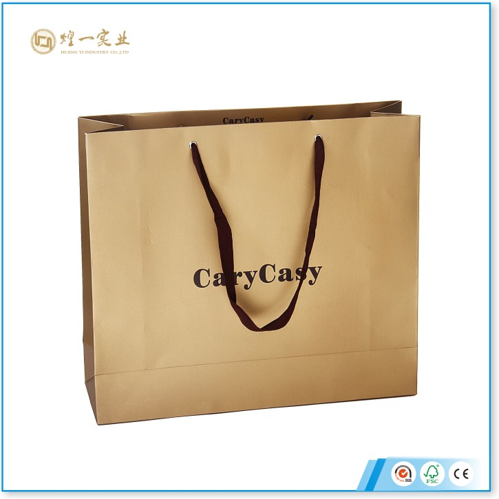 2016 Hot Sale Custom Luxury Paper Shopping Bags