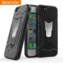 Magnet Kickstand hybrid armor custom case for iphone 5 5s back cover