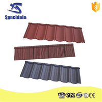 Low cost Terracotta China Mgo French Metal Stone Coated Roof Tile Price Edging