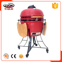 "Kitchen Island Fire King 24"" Egg Kamado Charcoal Chicken Grill"