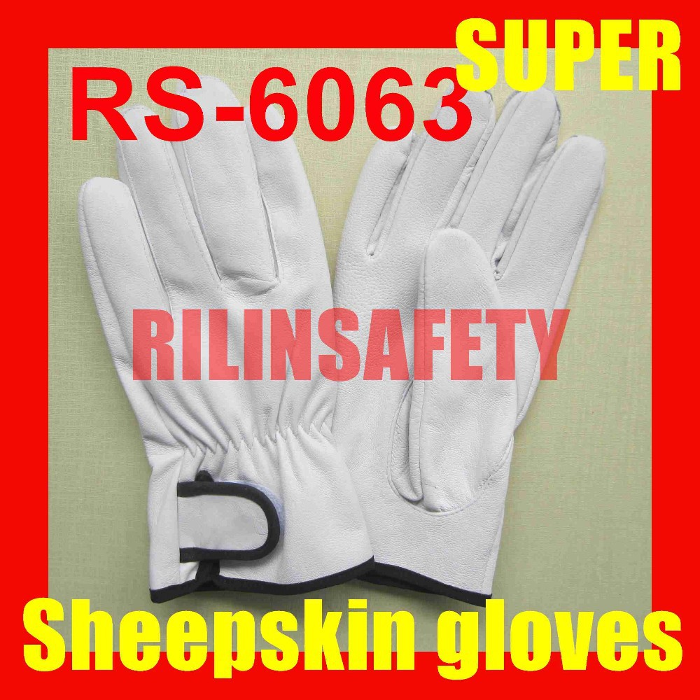 RILIN SAFETY two finger goatskin safety gloves, goatskin gloves