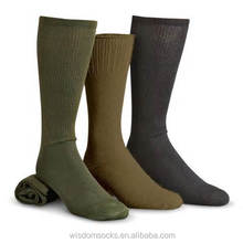 custom high quality wool or cotton sport military green army socks
