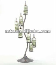 wine display rack heliciform decorative metal stand