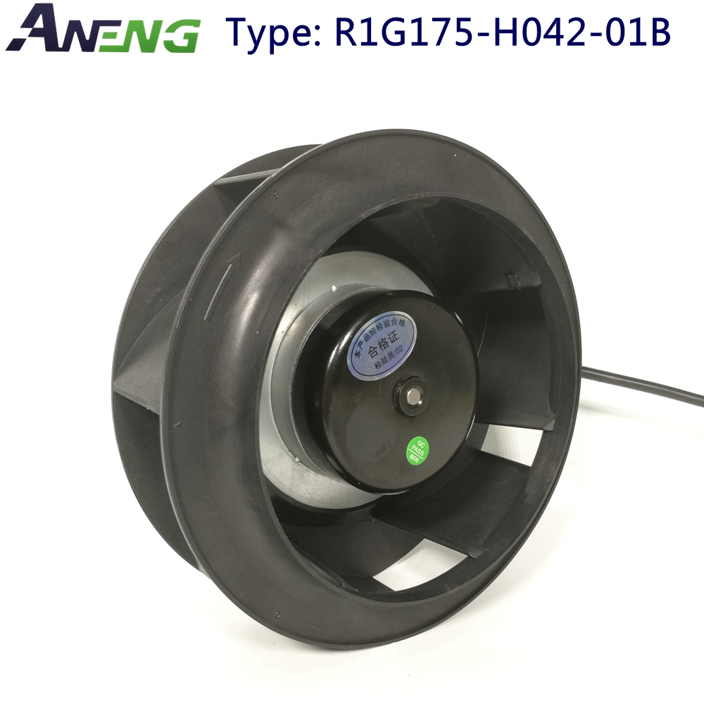 175MM dc <strong>12v</strong> 24v 48v brushless external rotor motro fan used in machine for heat radiation