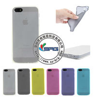 Free Shipping!!! Super thin TPU case for iphone 5 / ultra thin clear case with dust plug cap