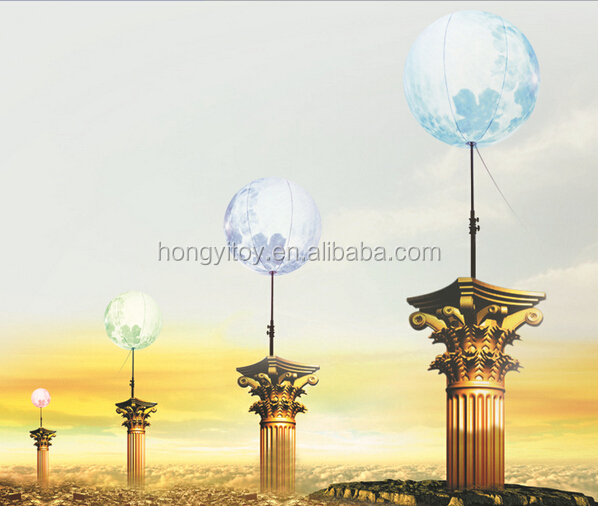 Swimming Pool Placed Inflatable Lotus Lighting Balloon LED Water Ball For Events Decoration