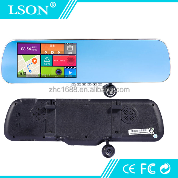 5mp Car Rear View Bluetooth Camera Dual Mirror 1080p Dash Camcorder