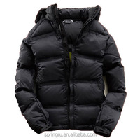 Produce Black Thick Down Jackets OEM