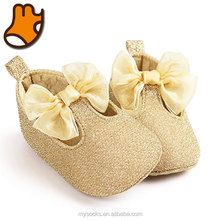 Elegant Princess Golden Baby Shoes 2017 with Butterfly