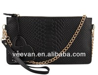 Black leather wallets bag,ladies leather wallets,women leather wallets with chain