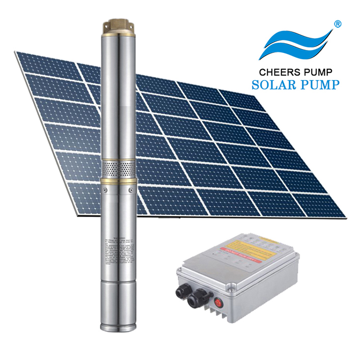 Cheers 1hp dc solar panel system submersible water farm pump price