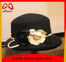 ladies wide brim wool felt hat