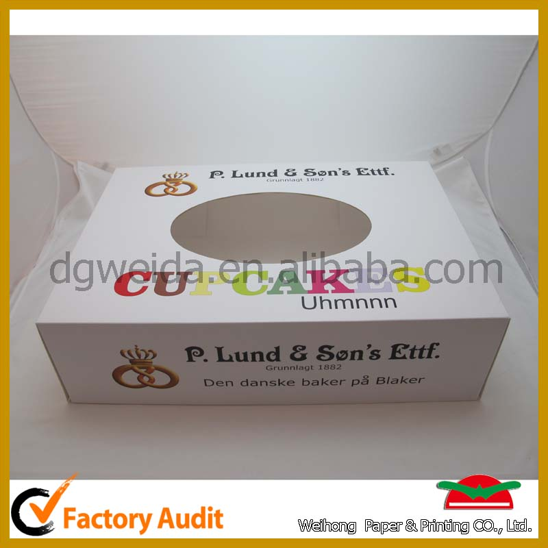 hot sale cupcake package eco- friendly cupcake box (1~24 cups)