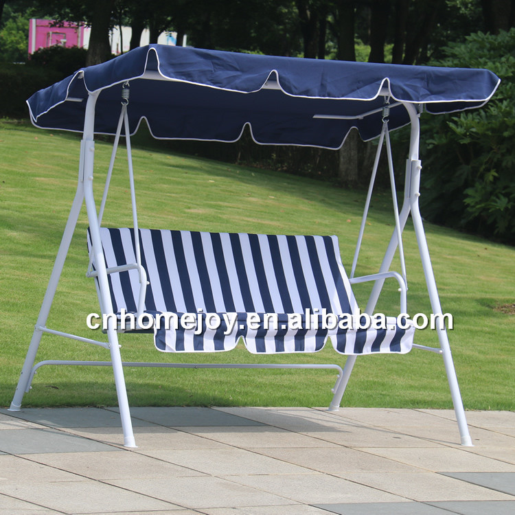 Durable 3 seat patio swing chair, garden swing, promotion swing with canopy